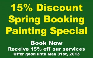 Spring Booking Special